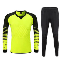Men Goalkeeper Jersey Football Profession Training uniforms Soccer keeper Sponge Protector Doorkeeper Shirt