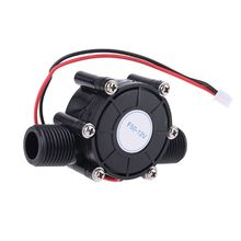 DC 80V/5V/12V 10W Micro Water Flow Pump Hydro Generator Turbine Flow Energy Generator dc 12v 10w sc1000 dc pump computer water cooling pump maximum flow 1000l h with speed measuring line controller