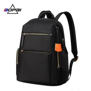 Image 1 - BOPAI 2020 Women Backpack Waterproof OL 14 Inch Women Laptop Backpack Plecak Black Bagpack Travel Business Fashion Mochila Mujer