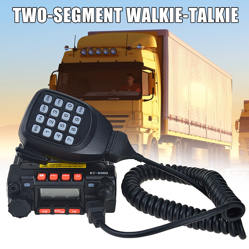Car Radio Portable 2 Way Radio Transceiver Walkie Talkie for Small Auto Vehicle PUO88