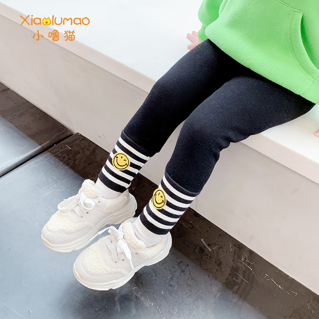 Фото детские леггинсы xiaolumao для девочек модные бархатные штаны