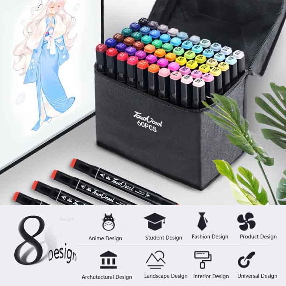 Kunst marker sets 30/40/60/80 Farben Innen design skizze manga Alkohol Marker Stift Für Zeichnung-in Kunst-Marker aus Büro- und Schulmaterial bei title=