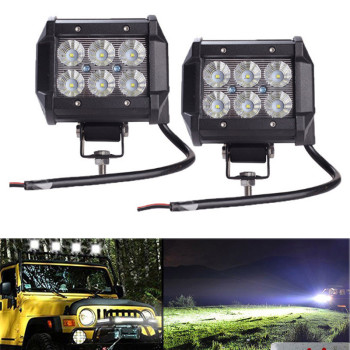 цена на 1PC Car Led Light Bar 18W Work Light Lamp Cree Chip LED Motorcycle Tractor Boat Off Road 4WD 4x4 Truck SUV FOG LIGHT FOR ATV