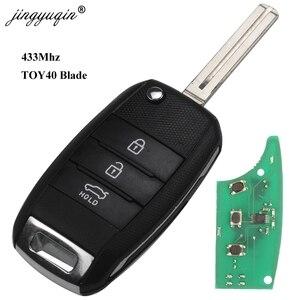 Image 3 - Jingyuqin 3 Pulsante di Vibrazione A Distanza di Chiave Dellautomobile 433MHZ ID46 ID70 Chip Per Kia K5 Sorento Sportage 2013 2014 2015 keyless Fob