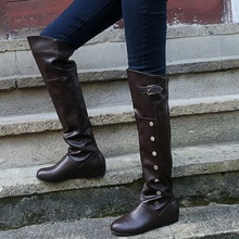 Buy 2019 Size 35-43 New Shoes Women Boots Black Over the Knee Boots Sexy Female Autumn Winter lady Thigh High Boots directly from merchant!