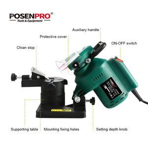 "Image 3 - POSENPRO 220W 100mm 4"" Inches Power Chain Saw Sharpener Grinder Machine Garden Tools Portable Electric Chainsaw Sharpener"