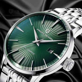 43mmPagani design green dial  automatic movement men's Stainless steel strap fashion casual   mechanical watch