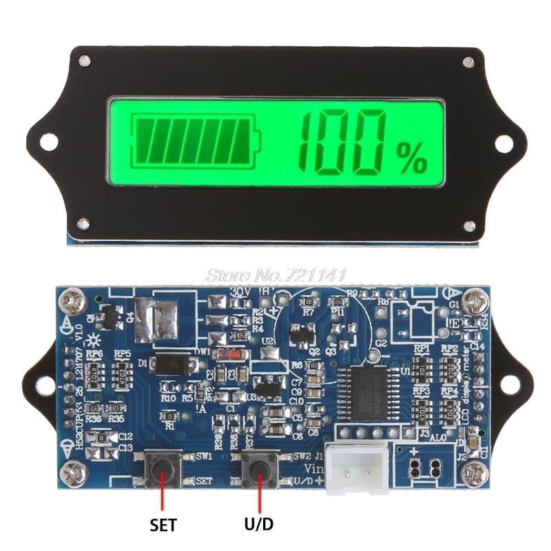 12/24/36/48/60/72V LED Lead Acid Storage Battery Indicator Tester Gauge Monitor Dropship
