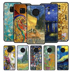 Silicone Phone Case For Huawei Nova 6 5 5z 7 SE Mate 20 10 Lite 30 Pro 5G 2020 Protection Back Cover Van Gogh Starry Night Klimt