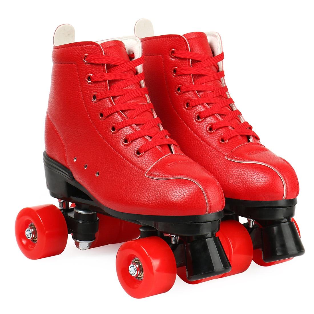 2021 Color Microfiber Roller 4 Wheels Skates