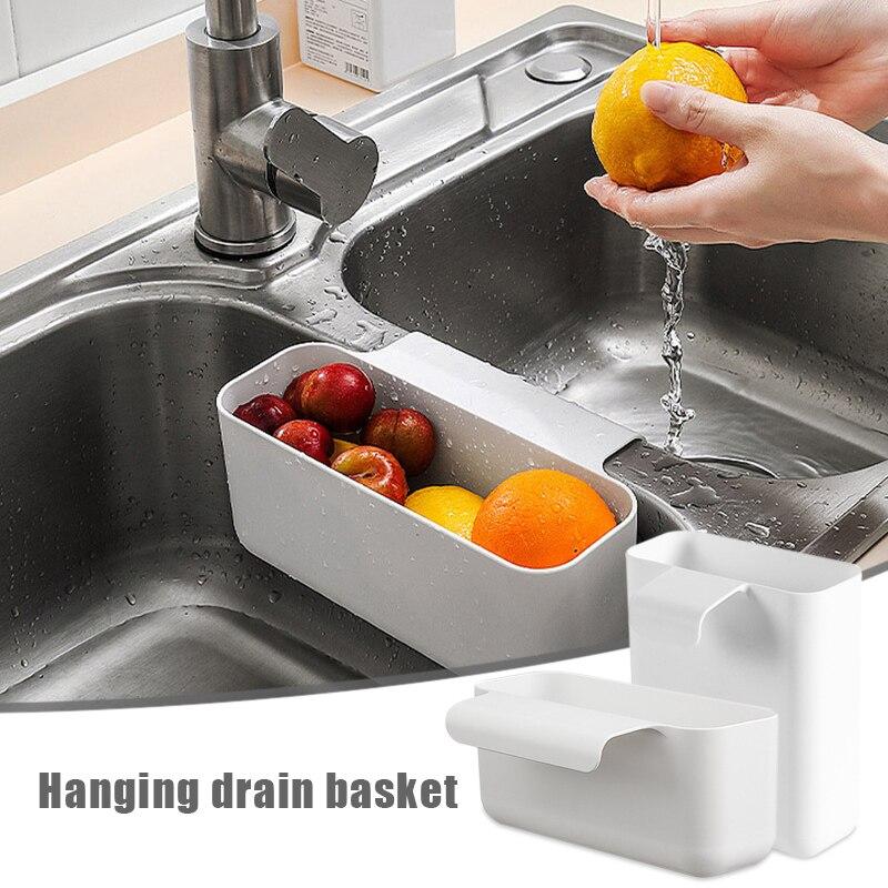 Настенная пластиковая корзина для кухонной раковины с сетчатым