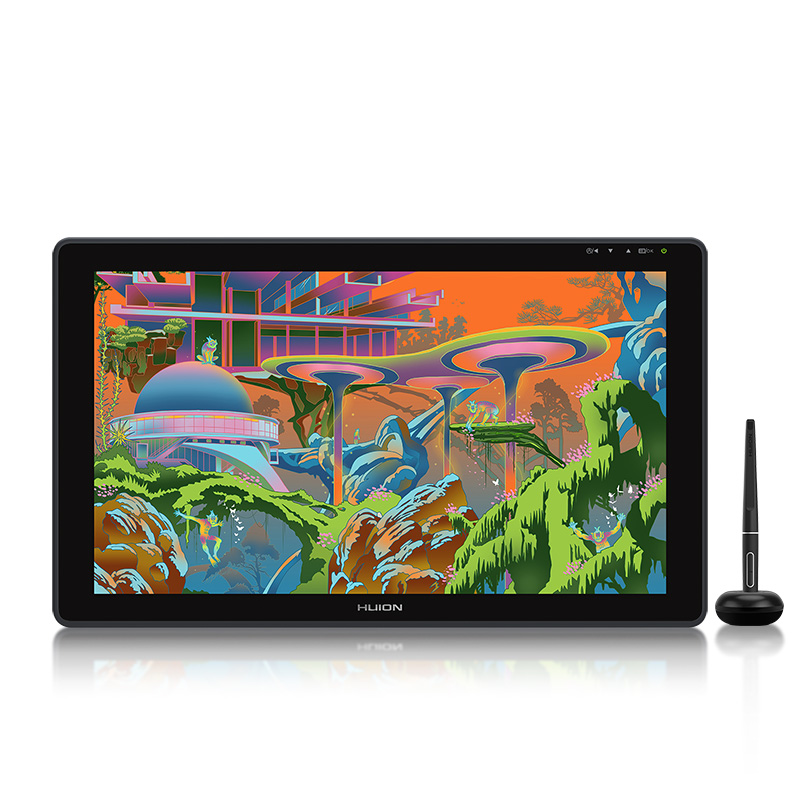 HUION Kamvas 22 Graphic Tablet 21.5 inch Pen Tablet Monitor Anti-glare Screen 120%s RGB Pen Display Support Windows/mac/Android