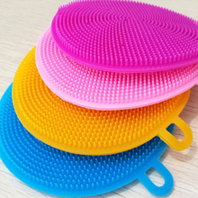 vanzlife Insulated kitchen brush Cleaning multi-function vegetable cloth sponge for washing dishes silicon sponge for tableware