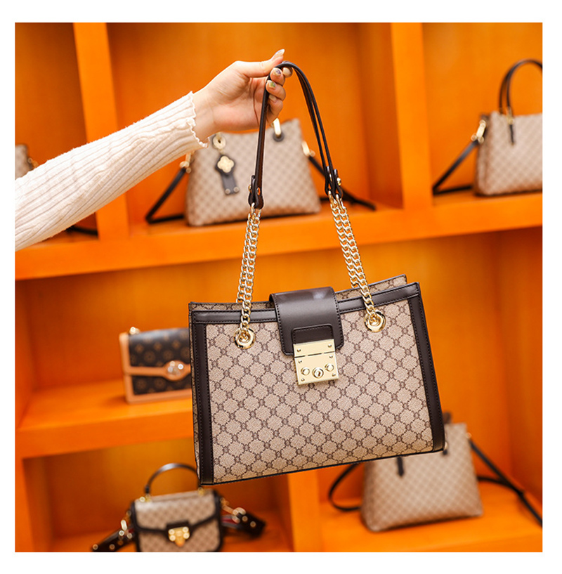 Women's bags 2021 new high-end leather fashion ladies shoulder bag simple style diagonal bag wild large-capacity square bag tide