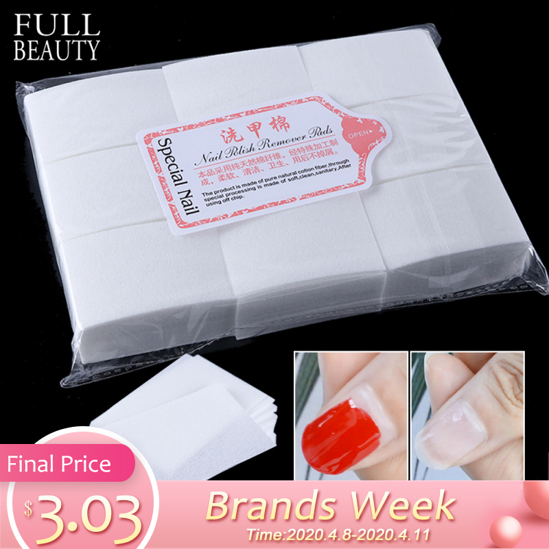 1 Pack Gel Polish Remover Pad Nail Wipes Cleaning Lint Free Paper Pad Soak Off Remover Manicure Cotton Napkins Wrap Tool CH957-1