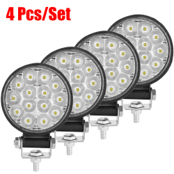 2/4Pcs Mini Led Work Light Round Spotlight 42W Car Work Headlight For Truck Offroad Fog Light Lamp Night 12/24V Driving Lights