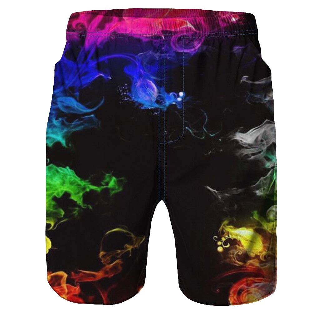 Pants Short Swim-Trunks Beach-Work Summer Casual New 3D Graffiti Printed Men