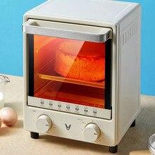 Youpin мини духовка 12L электрическая Встраиваемая латунная электрическая духовка мини духовка домашняя духовка для хлеба пиццы сковорода инт...