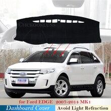 J54 YIZ Dash Cover Mat Custom Fit for Ford Edge 2011-2014,Dashboard Cover Pad Carpet 11-14 Black