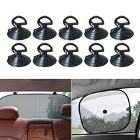 Ventosa de ventosa negra para coche, ventosa de PVC de goma, gancho de ventosa, parasol de coche, taza de succión de 35mm, 10 Uds.