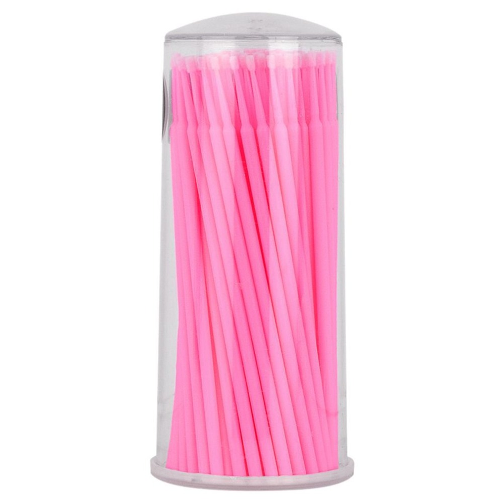 Embroider Cotton Swabs Eyelash Grafting Eyelash Glue Removing Agent Paste Cleaning Rod Cotton Swab