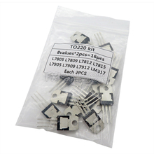 8value*2PCS=16PCS 7805 7809 7812 7815 7905 7909 LM317 L7912 igmopnrq LM317T TO-220 Transistor Assortment Kit Voltage Regulator