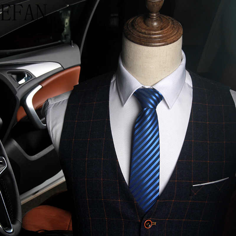 8 Cm Mens Dasi Sutra Dasi Stripe Jacquard Tenun Klasik Leher Dasi untuk Pria Formal Bisnis Pernikahan Pesta Mempelai Lelaki Hadiah AS01-38
