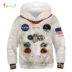 Image 1 - Sudaderas con capucha Amstrong para niños, trajes espaciadores, sudaderas de manga larga para Primavera, ropa Infantil para adolescentes, 2020