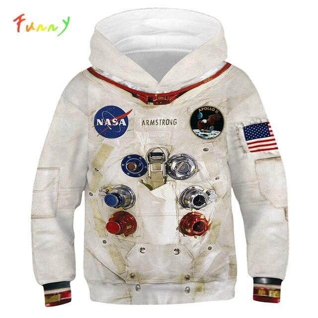 Sudaderas con capucha Amstrong para niños, trajes espaciadores, sudaderas de manga larga para Primavera, ropa Infantil para adolescentes, 2020