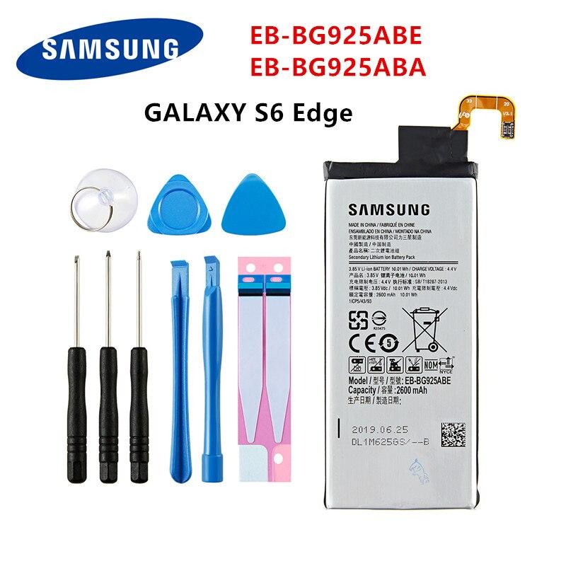 SAMSUNG Orginal EB-BG925ABE EB-BG925ABA 2600mAh Battery For Samsung Galaxy S6 Edge G9250 G925 G925FQ G925F G925S/V/A +Tools