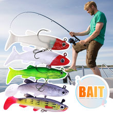 5pc Bait hook Floating Sinking Tackle Sea Fishing lures Bait Set Hard stick Baits Light reflection wobblers for sea bass 7.9(China)