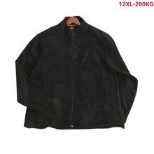 Winter Men 11XL 12XL Fleece Jackets Thick Out Door Warm Outwear Zipper Coats Plus Size10xl  Jackets Man 70 150KG 200KG Loose Coa