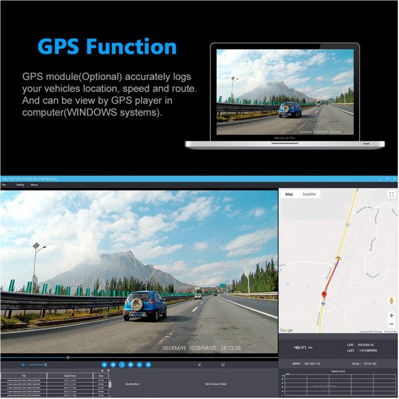 2K 2160P Wifi Gps Dash Cam Dual Lens Auto Dvr Nachtzicht Auto Camera Verborgen Loop Recording Dvr sony Sensor Recorder Camcorder - 4