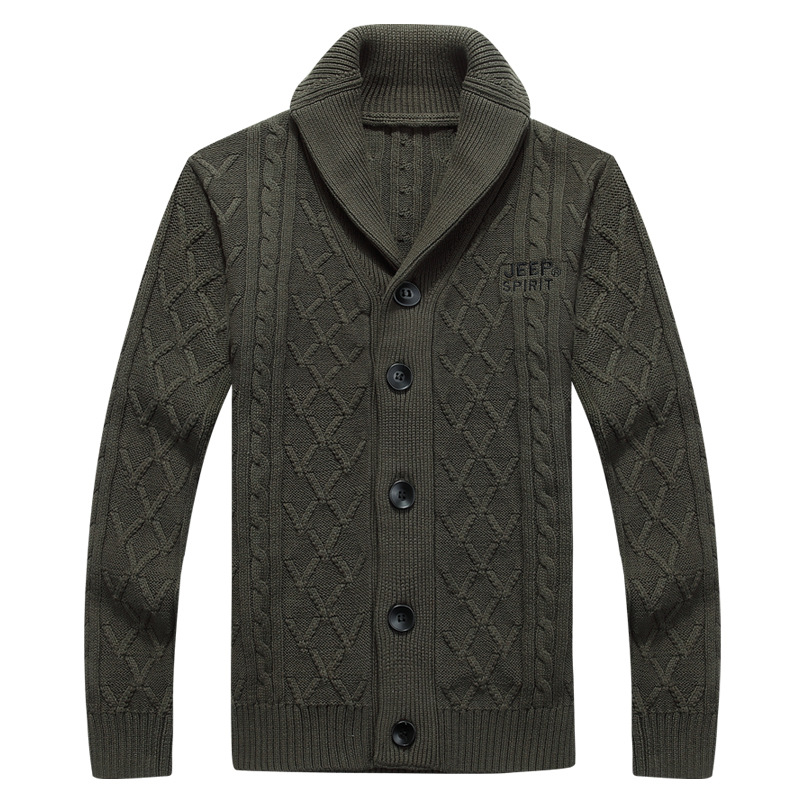 New Men Thick Fashion Business Casual Sweater Cardigan Brand Slim Fit Knitwear Outwear Warm Winter Zipper Sweater