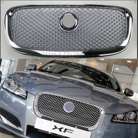 Car styling 1PC ABS Front Grill Cover Trim Auto Replacement Parts Fit For Jaguar xf XF 2008 2016 Free Delivery