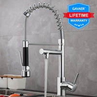 Gavaer Spring Pull Down Kitchen Faucet Nozzle Dual Mode Water Mixer Single
