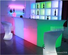 Arrivial led furniture Waterproof Led display case 40x40x40CM colorful changed Rechargeable cabinet bar disco party decorations