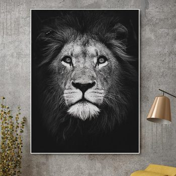 Decoration Canvas Painting Wall-Pictures Unique Lion Animal Posters Living Room Home-Decor image