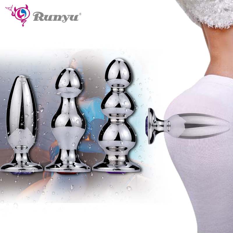 Runyu adulte gros jouets sexuels anaux énorme taille bouchons de cul Massage de la Prostate pour les hommes stimulateur d'expansion de l'anus femelle grandes perles anales