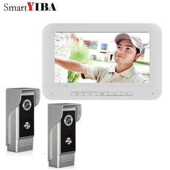 "SmartYIBA 7"" Color Monitor Door Bell Interphone Video Intercom Infared LEDs IR Camera Home Office Door Phone hands- Free monitor"