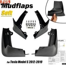 테슬라 모델 S 2012 2013 2014 2015 2016 2017 2018 2019 Mudflaps 스플래쉬 가드 플랩 머드 가드 Oe는 자동차 진흙 플랩