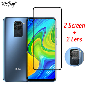 Full Cover Tempered Glass For Redmi Note 9 Screen Protector For Redmi Note 9 9S 7 X3 Camera Glass For Xiaomi Redmi Note 9 Glass(China)