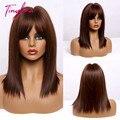 TINY LANA Kurze Gerade Bobo Haar Honig Braun Blonde Für Amerika Afrika Frau perücken Cosplay Partei Synthetische Perücken Hitze Beständig
