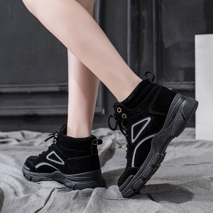 Image 2 - SKRENEDS Women Casual Sneakers Winter Sneakers Plush Fur Warm Women Shoes Lace Up Female Boots Comrfortable Platform Shoes Women