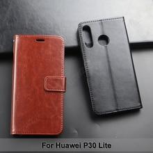 جراب محفظة لهاتف Huawei P30 Lite ، جراب جلد PU مع رفرف