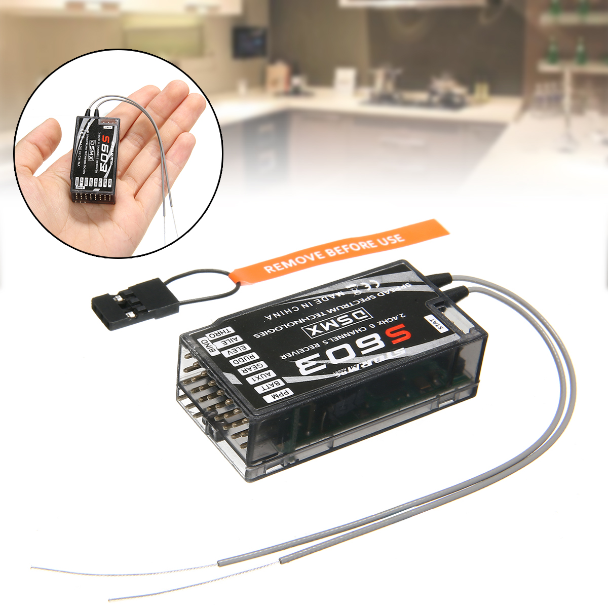 AR6210 DSMX 6-Channel Receiver RX Support DSM2 for Spektrum Transmitter RC New