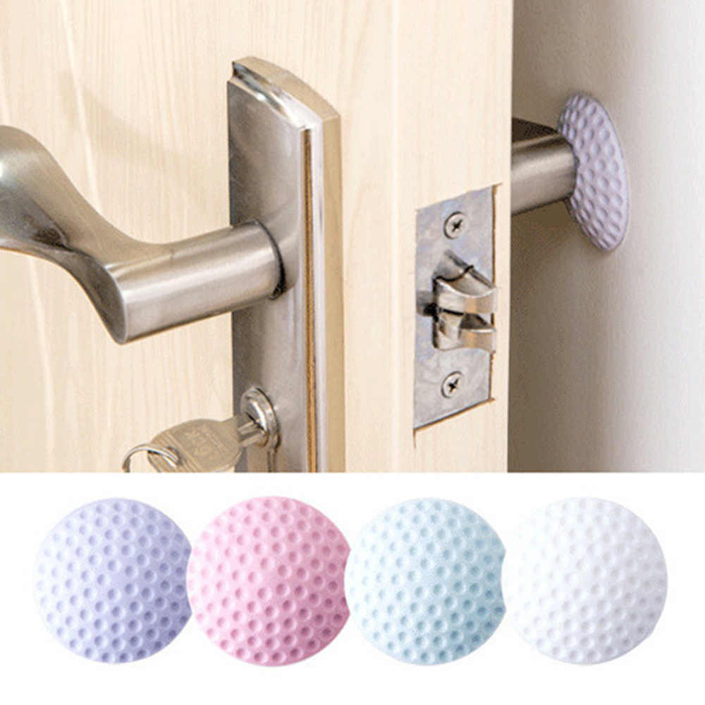 Baby Safety Shock Security Door Protection Pad Door Handle Rubber Lock Crash Mat Table Corner Protection Hot 4 color