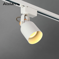 Aisilan COB 9W Led Track light aluminum Ceiling Rail Track lighting Spot Rail Spotlights Painting display AC90 260V|Track Lighting| |  -