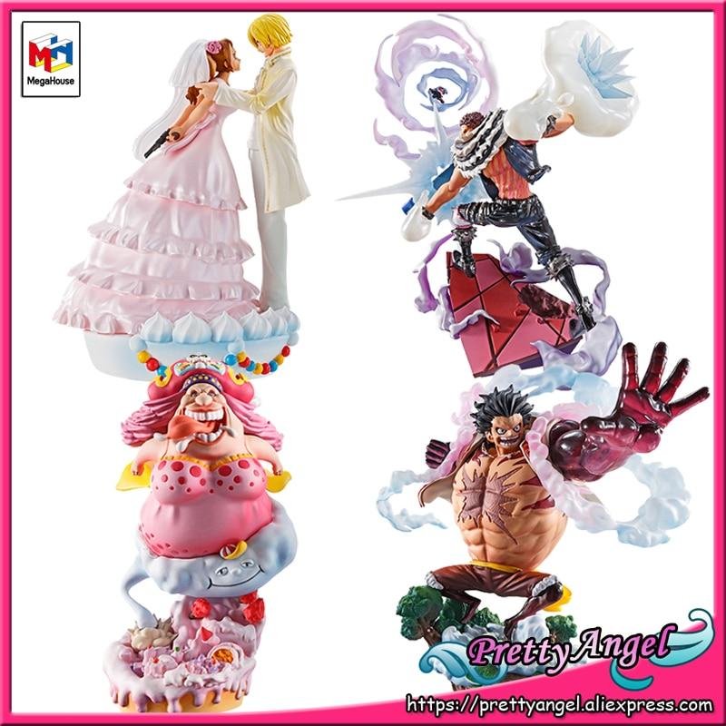 PrettyAngel - Genuine MegaHouse LOG BOX RE BIRTH ONE PIECE Full Set 4 Pieces Sanji Luffy Katakuri BIG MOM Collection Figure 1