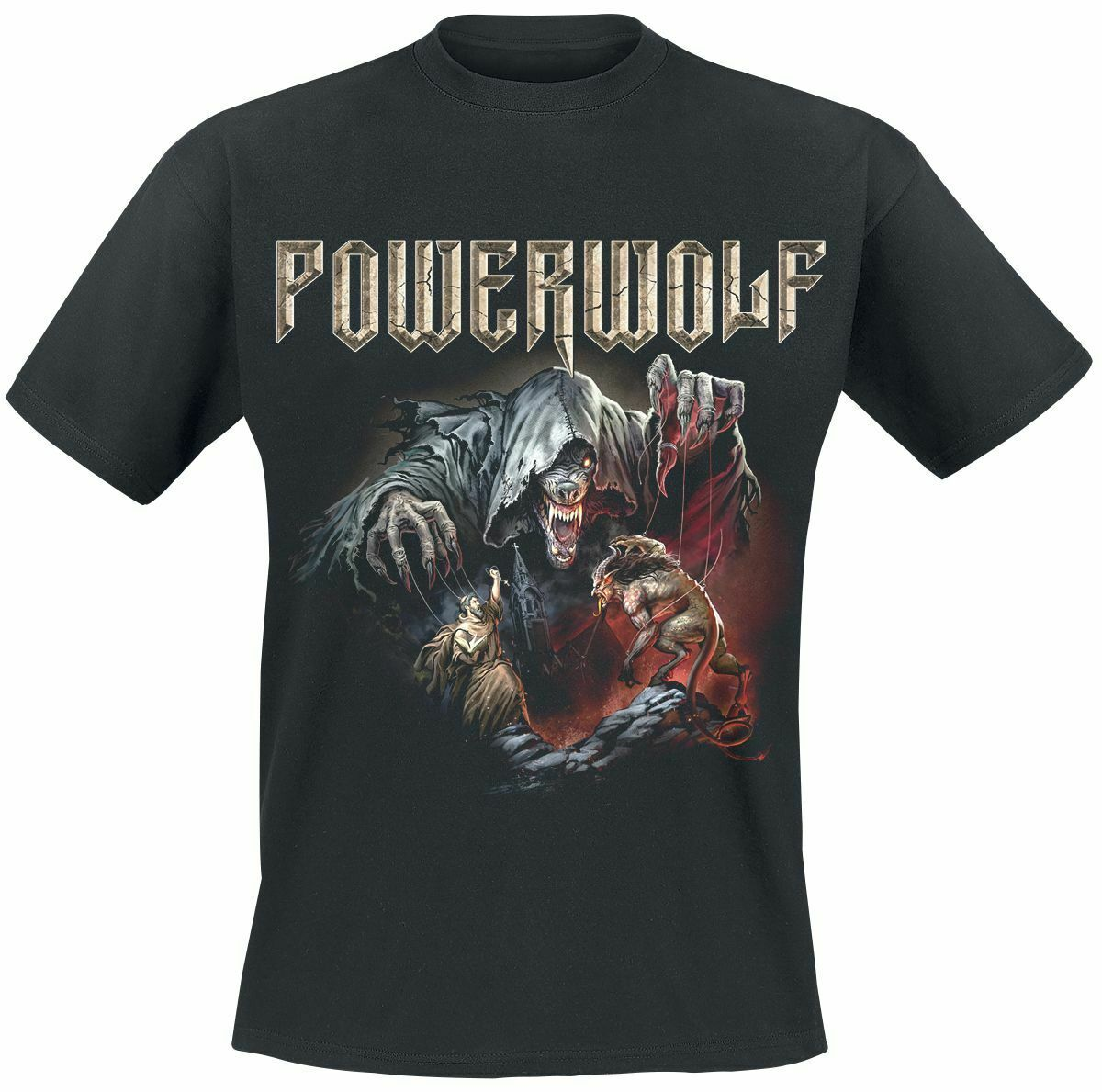 Powerwolf The Sacrament of Sin T-Shirt Black T Shits Printing Short Sleeve Casual O-Neck Cotton Basic Models Top Tee Plus Size
